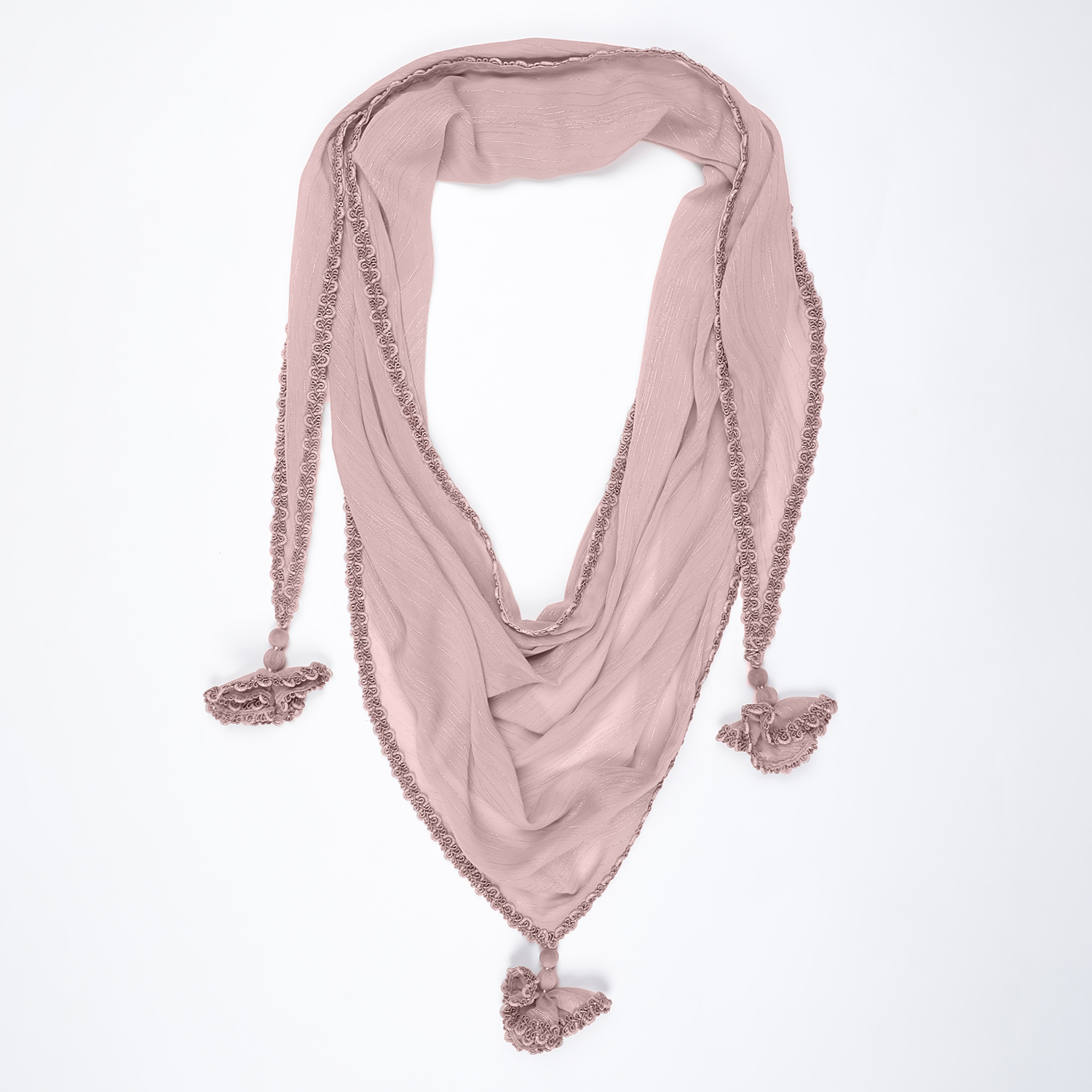 Buy Pink Triangle Scarf For Women